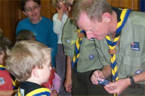 THIS BADGE SHOWS YOU ARE PART OF THE AUSTRALIAN SCOUTING COMMUNITY